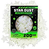 Ultra Brighter Glow in the Dark Stars; Special Deal 200 Count w/ Bonus Moon, Amazing for Children and Toddler Decorations Wall Stickers for Boys! FREE Constellation Guide ()