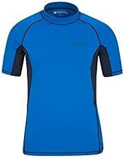 Mountain Warehouse Camiseta térmica con protección Solar UV para Hombre - Camiseta térmica con protección Solar UV UPF50+, Top térmico de Secado rápido, Costuras Planas