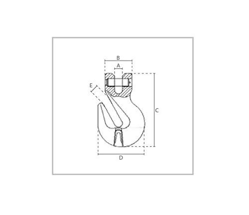 2er Set 1,12t Gabelkopf-Verk/ürzungshaken G/üteklasse 8 2x Verk/ürzungshaken 1,12t Gabelkopf 6mm Forstkette Chokerkette Parallelhaken GK8