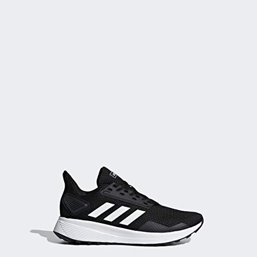 adidas Unisex-Kid's Duramo 9 Running Shoe White/Black, 4 (Shoes Girl Running)