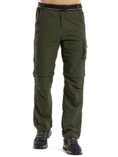 Men's Outdoor Anytime Quick Dry Convertible Lightweight Hiking Fishing Zip
