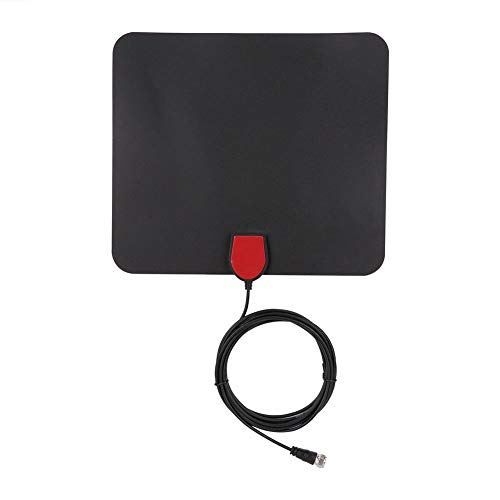 HDTV Antenna Indoor - Active Digital TV Aerial DVB-T2 DVB-T Freeview HDTV Antenna - 50 Miles Wide Rnge Receiving Distance Support HDTV 1080P/1080I/720P