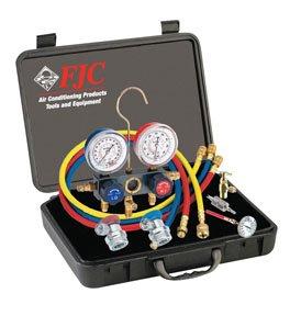 FJC 6785 R134A Aluminum Manifold Gauge Set And Tool Assortment