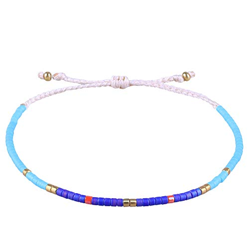 - KELITCH Boho-Color Crystal Shell Beaded Friendship Bracelets Handmade Strand Bracelet Bangles Jewelry for Summer