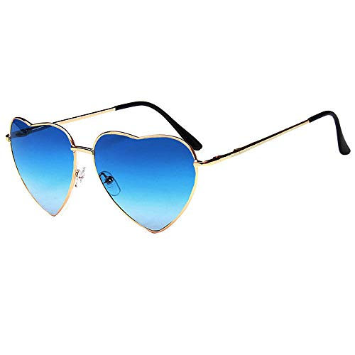 Mily Color Coated Full Metal Frame UV400 Heart Shape Sunglasses Eyewear