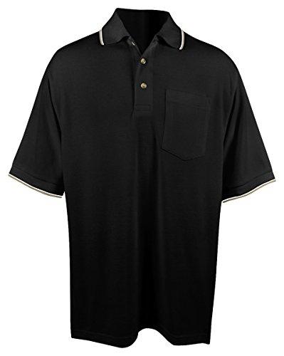 Tri Mountain Conquest Mesh Pocketed Golf Shirt  5Xlt  Black Khaki White