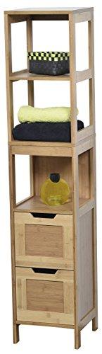 EVIDECO 9901195 Mahe Bathroom Free Standing Linen Tower Shelf by EVIDECO