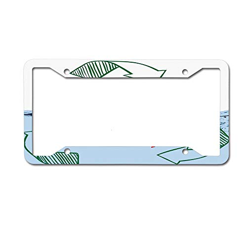 Dinzisalugg Custom Aluminum Metal License Plate Frame Tag Holder Cute,Sexy Invitation Save Water Shower with Me Sexy Recycling Earth Lover Funny Design License Plate Frame 4 Holes and Screws
