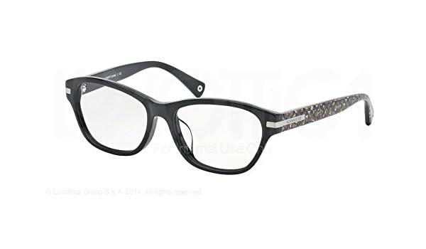 747d555c0ef Amazon.com  Coach Lakota (F) Eyeglasses HC6050F 5226 Black Beige Ocelot Sig  C 53 16 140  Shoes