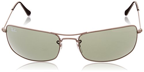 Ray-Ban Rectangular Men s Sunglasses (0RB3334I00461 Green)  Amazon.in   Clothing   Accessories ffb25a524c