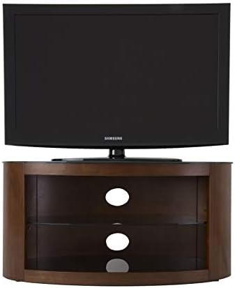 AVF Buckingham - Soporte Ovalado para TV (Madera de Nogal, 2 estantes para Pantallas LCD de Plasma LED de 14-40