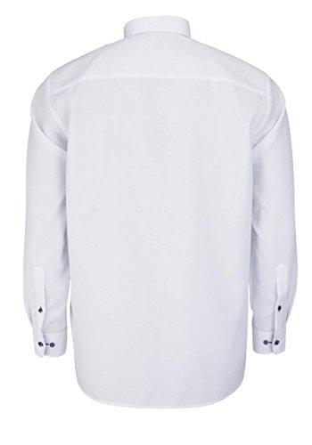 OLYMP Luxor Comfort Fit Hemd Langarm Struktur Weiß
