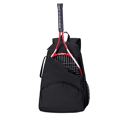 QEES Tennis Racket Holder Bag for Women, Tennis Backpack, Large Capacity Tennis & Racquet Sports Duffle Bag, 36L Racket Holder Equipment Bag for Tennis, Racquetball, Squash GJB1129 (Black)