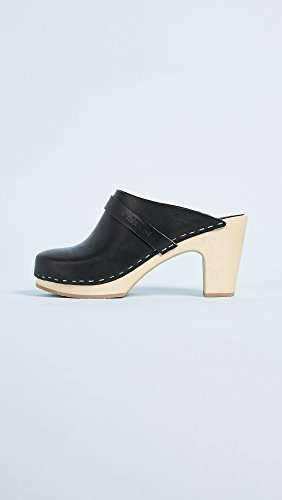 hasbeens Women's Black Slip On Classic swedish Clogs SBxPqwp1qn
