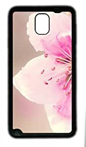 Beautiful Flower customized Hard samsung galaxy note 3 N9000 TPU Black Case