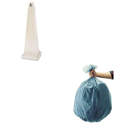 KITRCP257088BGRCP501188GRA - Value Kit - Rubbermaid-Beige Groundskeeper Outdoor Cigarette Receptacle (RCP257088BG) and Rubbermaid 5011-88 Tuffmade Polyliner Low-Density Can Liners, 55 Gallons (RCP501188GRA) Groundskeeper Outdoor Cigarette