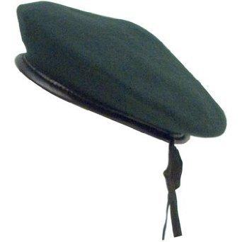 Rothco Monty Wool Beret, Green, Medium