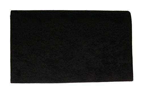 De Sobre Metálico Del Marco Noche Negro Rojo Diseño Bolsa Ante Bolsos óxido Faux Embrague Liso De Femeninos Del Del RwqRvY18