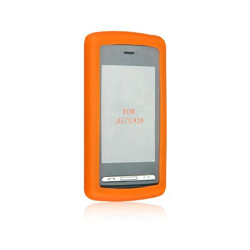 Orange Soft Silicone Gel Skin Cover Case for LG Vu CU915 CU920