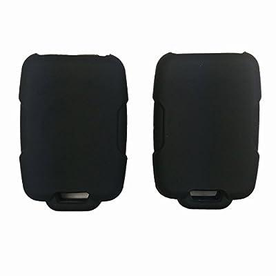 Coolbestda 2Pcs Rubber Smart Key Fob Remote Cover Case Protector Wallet Keyless Jacket for Chevrolet Silverado Colorado M3N32337100 13577770 13577771 GMC Sierra Yukon Cadillac: Automotive