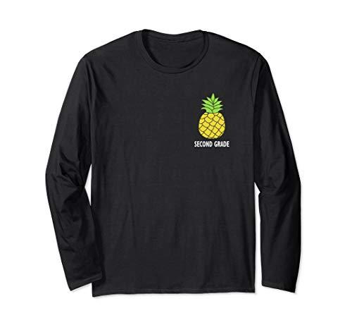 (Teach Like A Pineapple second grade t shirt Long Sleeve T-Shirt)