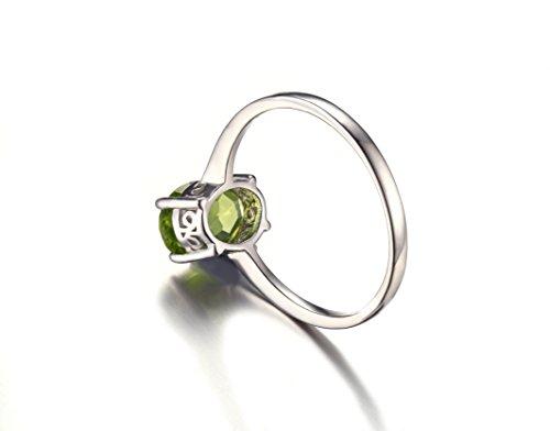 JewelryPalace 1.45ct Magnifique Bague Femme en Argent Sterling 925 en Péridot Naturel Vert en Forme Ovale