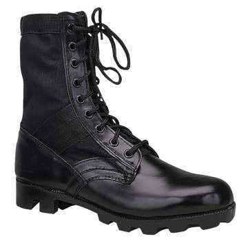 Rothco Classic Military Jungle Boots, 10 Wide, Black by Rothco