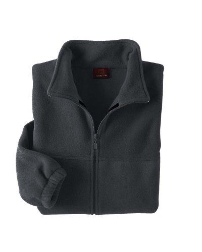 Harriton Mens Full Zip Fleece (Harriton Men's 8 oz. Full-Zip Fleece - CHARCOAL - S M990-simple)