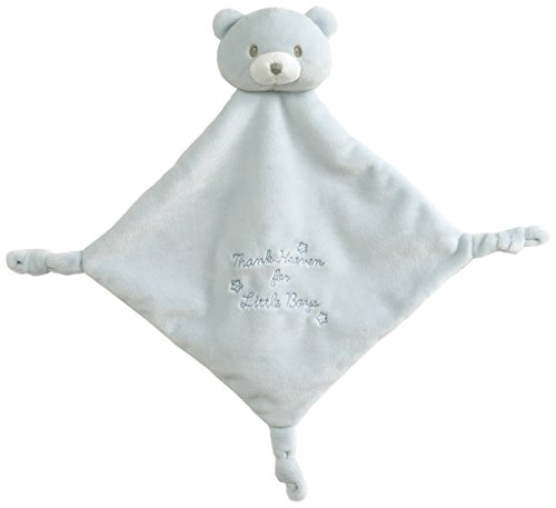 Baby GUND x Little Me Thank Heavens Lovey Stuffed Animal Plush Blanket, Blue, 12