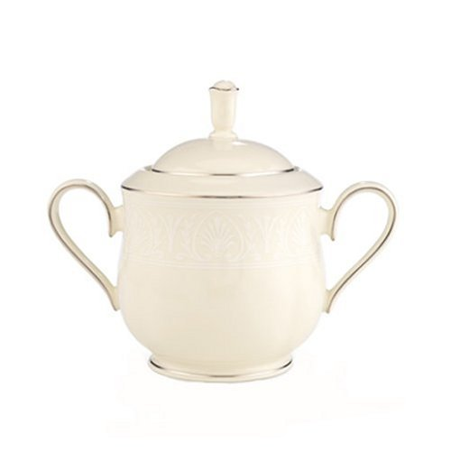 Lenox Courtyard Platinum Ivory China Sugar Bowl