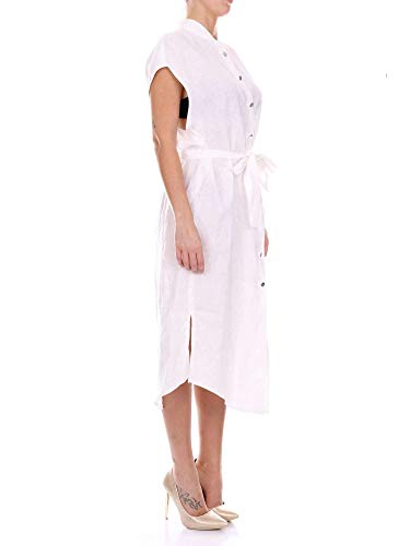 Blanc Robe Cd21851 Femme Lin Cruciani 8qFO17wWx
