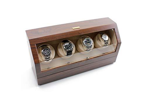 Heiden Quad Watch Winder in Walnut (Heiden Watch Box)