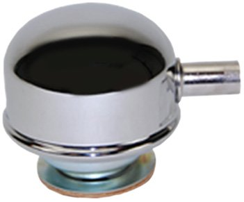 Mota Performance A70136 Chrome Plated Twist On Valve Cover Oil Filler Breather Cap with PCV Tube 2-3/8