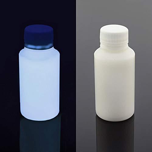 UV Blacklight Reactive Almost Invisible Neon Paint, Invisible Fluorescent Paint, neon Night UV Paint (White, 1 oz (30 ml))