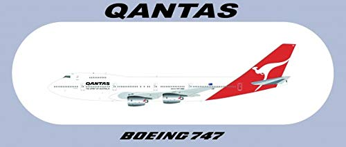"Qantas Boeing 747 Sticker (1 PC) About 208.8CM (7.87""3.46"") for sale  Delivered anywhere in USA"