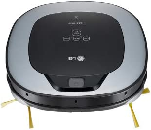 LG VR6260LVM Sin bolsa 0.6L Negro, Plata aspiradora robotizada ...