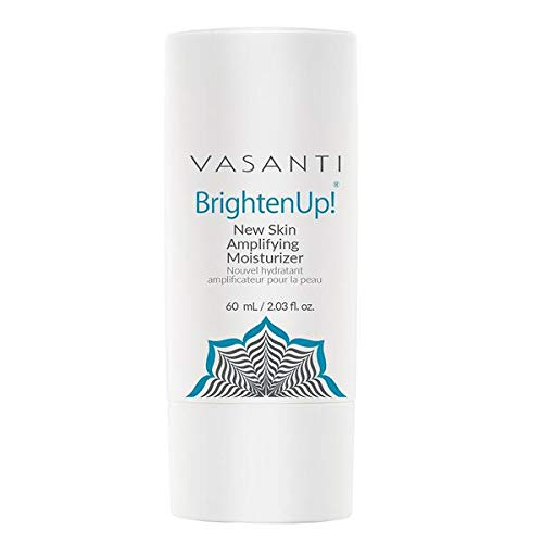 Brighten Up New Skin Amplifying Moisturizer by VASANTI - Enriched with Aloe, Vitamin C, and Arbutin from Bearberry Leaves - Get Healthy Glowing Skin - Full Size (2.03 fl. - Enriched Skin Brightener Vitamin