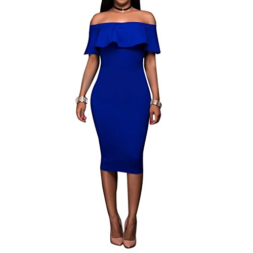 Dress with Split Royal Blue