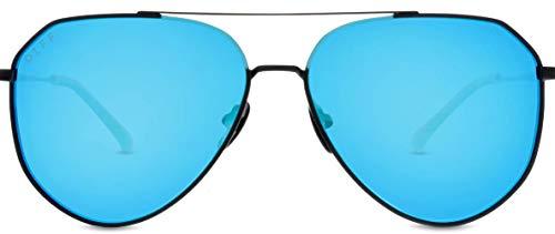 8d4f77813 DIFF Eyewear - Dash - Designer Aviator Sunglasses for Men & Women - 100% UVA