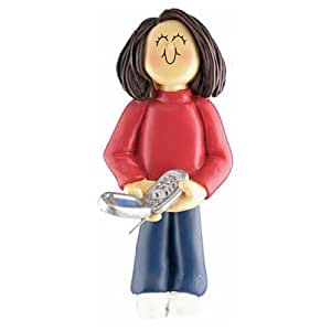 Ornament Central OC-109-FBR Female Cell Phone Figurine