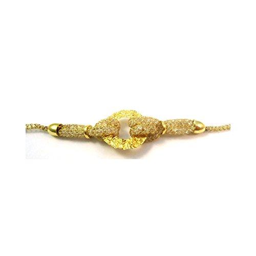 BRACELET en maille or 18 KT jaune avec ZIRCONS dans - Oro giallo 18 kt