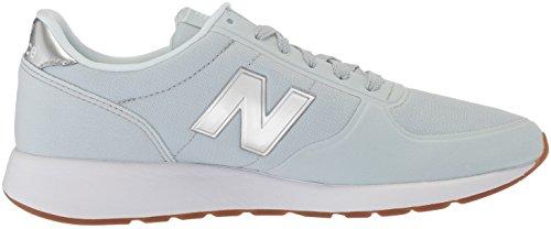 New Balance Womens 215 Sport V1 Sneaker Light Porcelian Blue / Slate Metallic