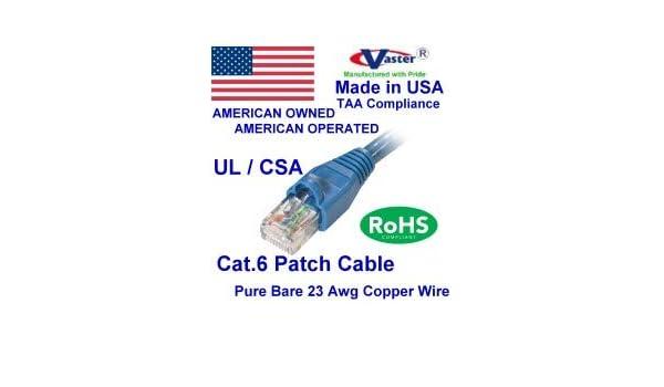 SuperEcable 100 Ft Cat5e Ethernet Network Patch Cable Blue Color