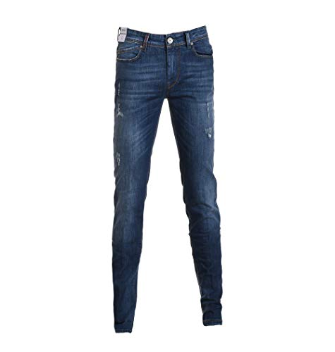 Jeans Hash Blu Cotone P0152546be12128blue Uomo Re 5a7Wn1qdfq