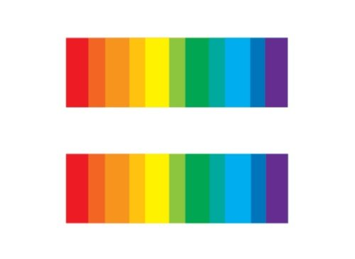 Equality Bars Temporary Tattoo, Set of 2, LGBT Temporary Tattoo, Size - 1 ½
