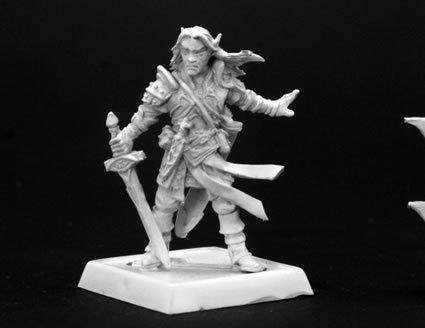 Reaper Miniatures 60005 Pathfinder Series Arael Half Elf Cleric Miniature by Reaper