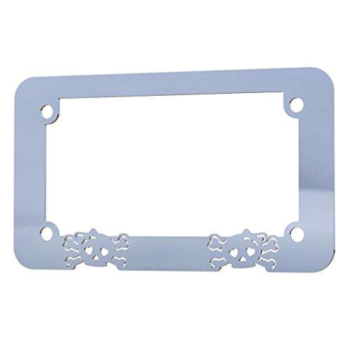 girly skull license plate frame - 7