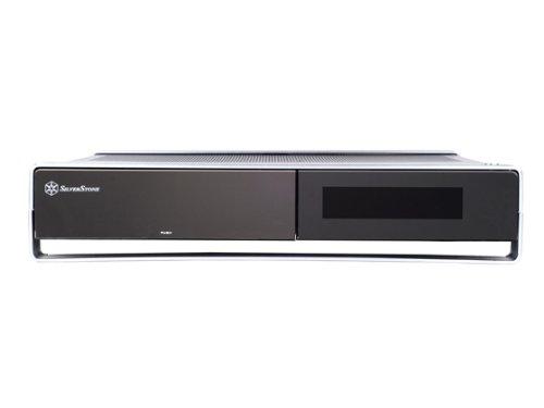 SilverStone ML02B-MXR Aluminum/Steel Micro ATX Media Center/HTPC Case - Retail (Black) by SilverStone Technology