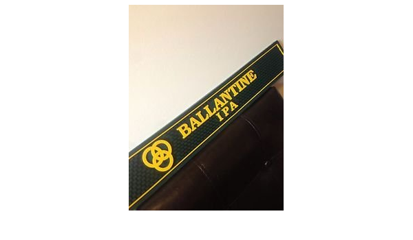 NEW Ballantine IPA Green /& Yellow Rubber Bar Mat