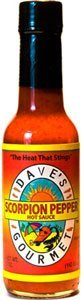 Daves Gourmet Scorpion Pepper Hot Sauce, 5 (Ghost Chile Extract)